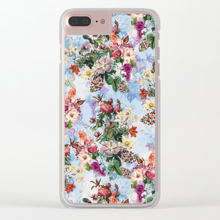 Summer Botanical Garden IX-II Clear iPhone Case