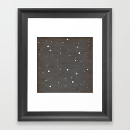 Vintage Star-Field Framed Art Print