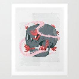 death and silence Art Print