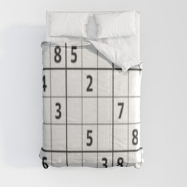 Sudoku Series: Hard Level - Mono Comforters