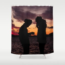 BEDOUIN SUNSET II Shower Curtain