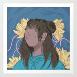 Camelia Girl Illustration Art Print