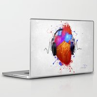 springsteen Laptop & iPad Skins featuring No Music - No Life by Sitchko Igor
