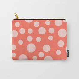 Living Coral Polka Dot Party Carry-All Pouch