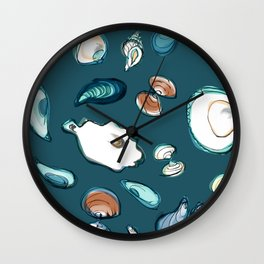 Mollusks Wall Clock