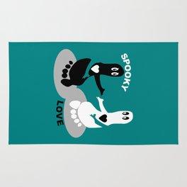 Spooky Love  Footprint ghost Rug