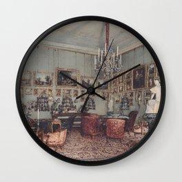 Interior In Palace Windischgratz In The Race In Wien 1848 by Rudolf von Alt | Reproduction Wall Clock