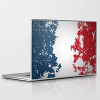 france Laptop & iPad Skins featuring France by Flat Design