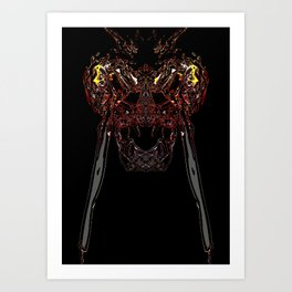 smoke monster Art Print
