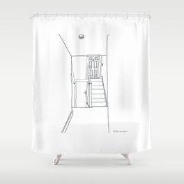 Hallway in London Shower Curtain