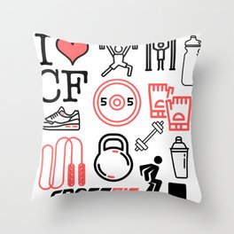 Love Crossfit Throw Pillow