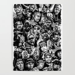 Gangster Rap Legends Print Poster