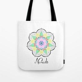 Mandala Art Flower Design Patterns Boho Pastel Tote Bag