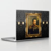 robert downey jr Laptop & iPad Skins featuring Robert Downey Jr. - replaceface by replaceface