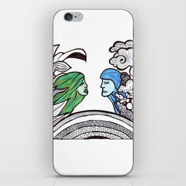 From two different worlds iPhone Skin