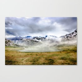 Lago Ercina in National park Picos de Europa Canvas Print