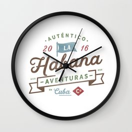 Vintage Havana Cuba Logo Wall Clock