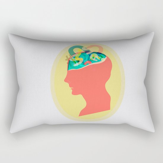 I can´t read your mind Rectangular Pillow