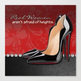 Real Women Aren't Afraid of Heights Canvas Print