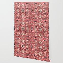 Vintage Blossom III // 16th Century Tibet Ornamental Moody Red Vines Colorful Ornate Rug Pattern Wallpaper