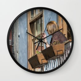 Las Palmas Balcony Wall Clock