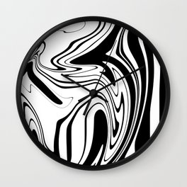 Stripes, distorted 1 Wall Clock