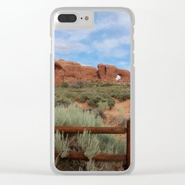 Vertical Arches National Park Clear iPhone Case