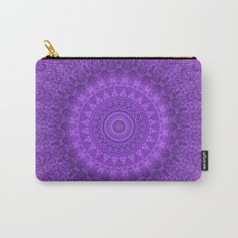 Sunflower Plum Boho Feather Pattern \\ Aesthetic Vintage Bohemian \\ Dark Violet Purple Color Scheme Carry-All Pouch
