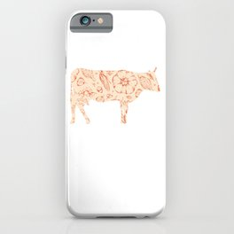 Save A Cow Eat A Vegetarian Vegan Healthy Lifestyle Living Vegetables Lover Fitness T-shirt Design iPhone Case