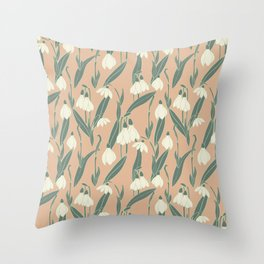 snowdrops II. Throw Pillow