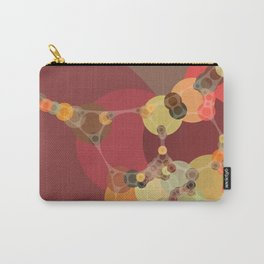 corrine - bright abstract of coral tan brown brick chartreuse Carry-All Pouch