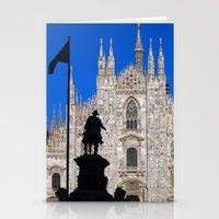 milan Stationery Cards featuring Milan by Kallian