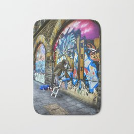 I Only Work Alone - Street Graffiti Artist Bath Mat