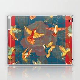 Hummingbirds in blue Laptop & iPad Skin