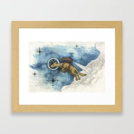 A Space Dog Framed Art Print