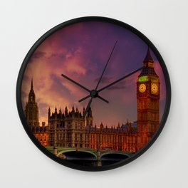 Houses of Parliament - London Wall Clock