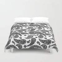 paisley Duvet Covers featuring Paisley  by guissëpi