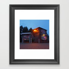 Quirky coffee stand Framed Art Print