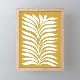 Minimal Fern Foliage 4. Mustard Framed Mini Art Print
