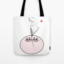 Whattheline city lady Tote Bag