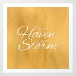 Haven from the Storm Art Print