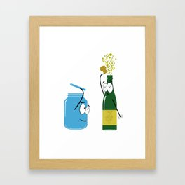 What a sparkling day! Framed Art Print