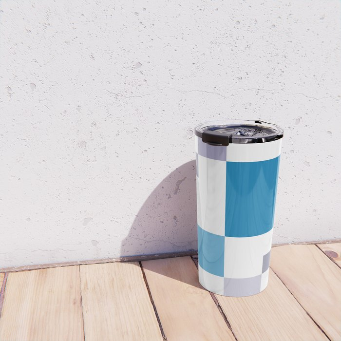 Square colorful tech background #society6 #decor #buyart #artprint Travel Mug