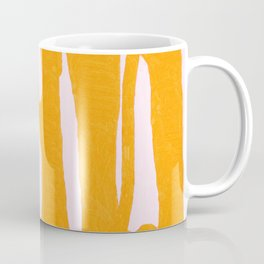 Abstract in Yellow and Cream Coffee Mug