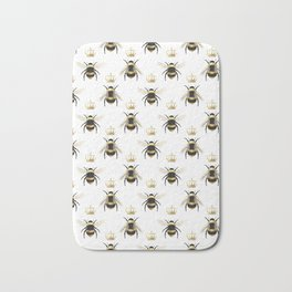 Gold Queen bee / girl power bumble bee pattern Bath Mat