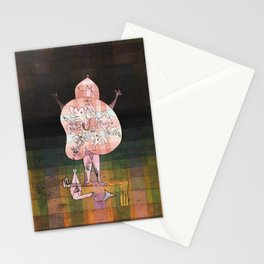 Ventriloquist and Crier in the Moor by Paul Klee, 1923 Stationery Cards