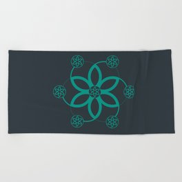 Evolution | Alien crop circle | Sacred geometry Beach Towel