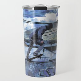 Tipping Point -Skateboarder Launching - Outdoor Sports Travel Mug