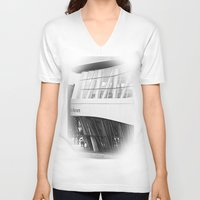 mercedes V-neck T-shirts featuring MERCEDES-BENZ MUSEUM by GL-ART-PHOTOGRAPHY