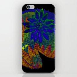 lotus on black iPhone Skin